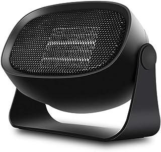 ZRSA Calefactor Cerámico Mini Ventilador Eléctrico Portátil Aire Caliente Termoventiladores de Ventilador Calentador de Cerámica de PTC para Hogar y Oficina Protección del Sobrecalentamiento-Negro