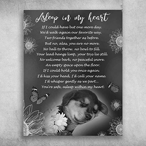 Best Pet Sleeping Asleep in My Heart You're Safe Asleep Within My Heart Print Poster Canvas Gallery Wraps Wall Art Decoration