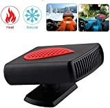 KATLY 360 ° Rotation car Heater 12V, car Heating & Cooling Fan 2 in 1, Portable dehumidifiers Window, windscreen demister defrosting Faster Heating, Little Noise,Black