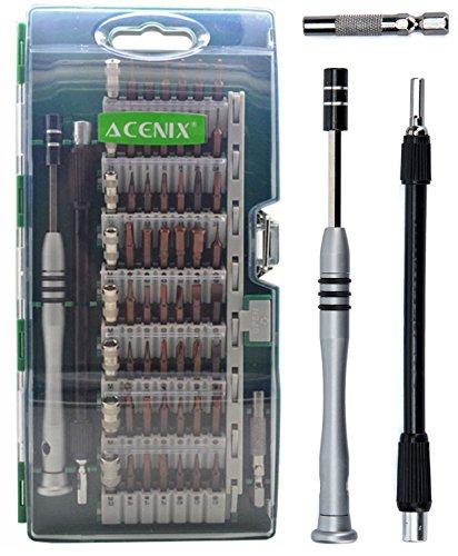 Preisvergleich Produktbild ACENIX Präzisions-Schraubendreher-Set für S2-Version,  magnetisches Heimwerkzeug-Set für Haushalt,  iPhone,  iPad,  Tablet,  PC und andere Haushaltsgeräte,  60-teiliges Set