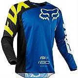 DSFA Abfahrtskleidung Mountainbike-Fahrradbekleidung Herren Langarm-Sommer-Offroad-Motorradbekleidung Atmungsaktive, Schnell Trocknende Kleidung L Blau schwarz