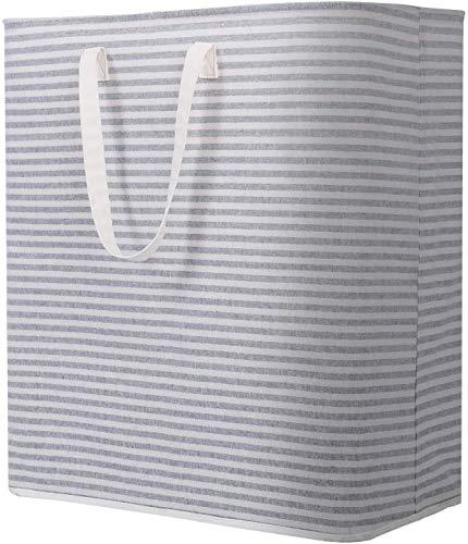 Lifewit Wäschekorb Groß Wäschesammler Faltbar Wäschebox Wasserdicht Wäschesortierer Aufbewahrungsbox mit Griffe, Rosa, 72L, 40 x 30 x 60 cm
