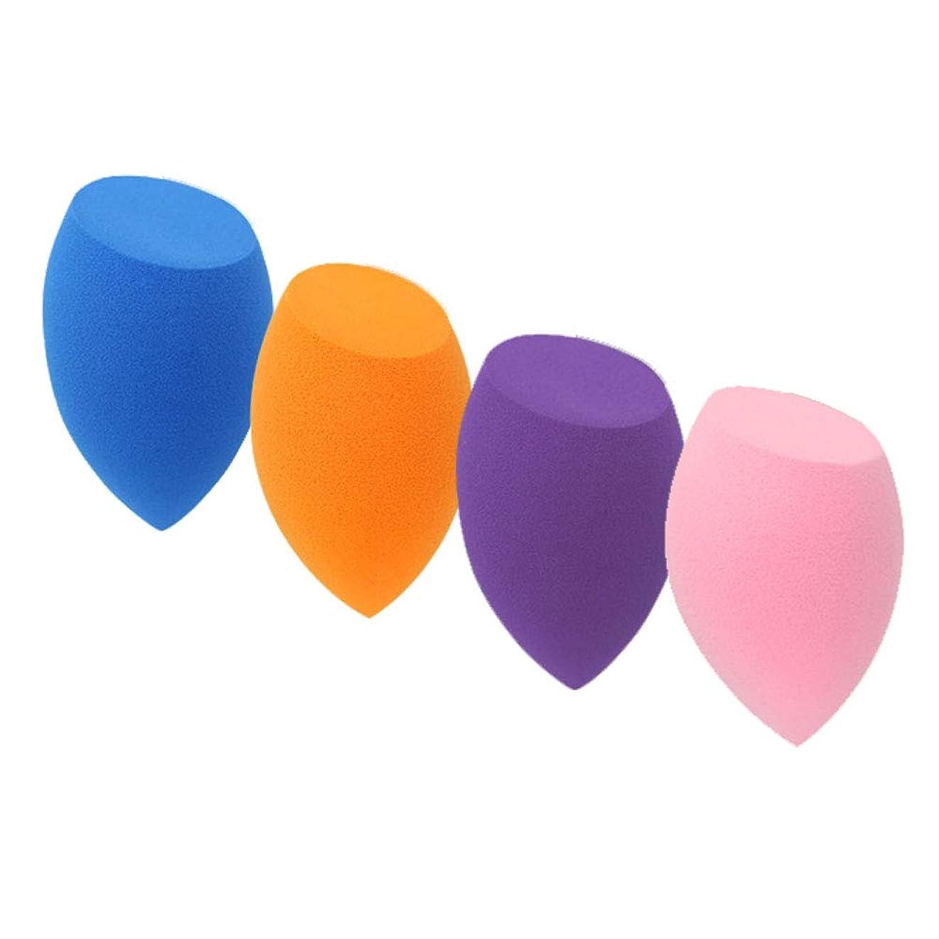夜間確立つかむSUPER DREAM メイクスポンジ 4個セット 立体カット型 化粧 スポンジ 斜めカット 3Dスポンジ パフ フェイシャルスポンジ 親水性ポリウレタン メイクアップスポンジ 湿乾両用 ファンデーション 使い捨て 水洗い 何度も使える