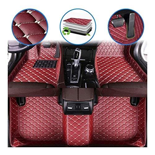 JISHIYU - Alfombrillas de coche de piel sintética para todo tipo de clima, doble capa impermeable (color: rojo vino, tamaño: XK)