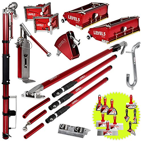 """Full Drywall Taping and Finishing Set - Level 5   Automatic Taper, 10""""/12"""