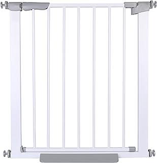 chelitte ベビーゲート ペットゲート セーフティオートゲート 設置幅76-83cm 突っ張りタイプ 前後90度開閉 オートクローズ 上下ダブルロック式 扉開放機能付き ステップ付き ホワイト (L)