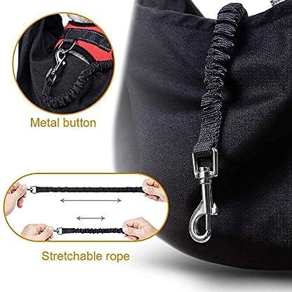 longsheng Dog Cat Sling Carrier, Adjustable Padded Shoulder Strap, with Zipper Pocket for Outdoor Travel 4
