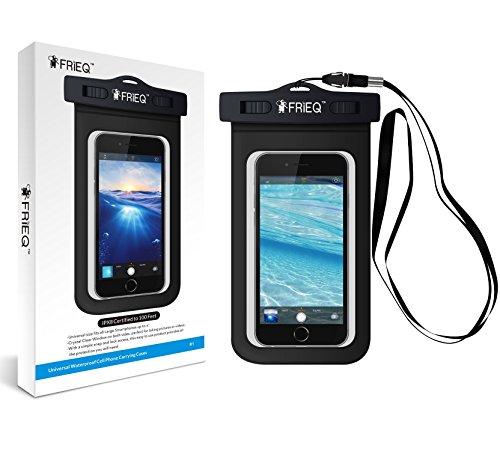Frieq custodia impermeabile per attività all' aperto–Borsa/custodia impermeabile per iPhone//8x 8PLUS/7/7PLUS/6s/6s Plus/Samsung Galaxy S9/S9Plus–IPX8certificato a 100piedi (nero)