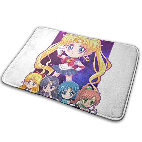 Moon Revenge Chibi Sailor Moon Team Teppich im Innenbereich 40 cm x 60 cm Vordertürmatte Wasserdicht, rutschfest, schnell abwaschbar und widerstandsfähig gegen Schmutzteppiche für den Eingangsbereich