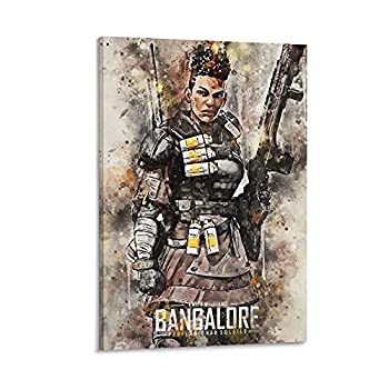 Bangalore Apex Legends Battle Royale Multiplayer Online Role-playing First-person Shooter Decoration Poster Canvas Art Poster and Wall Art Picture Print Modern Family bedroom Posters12×18inch 30×45cm