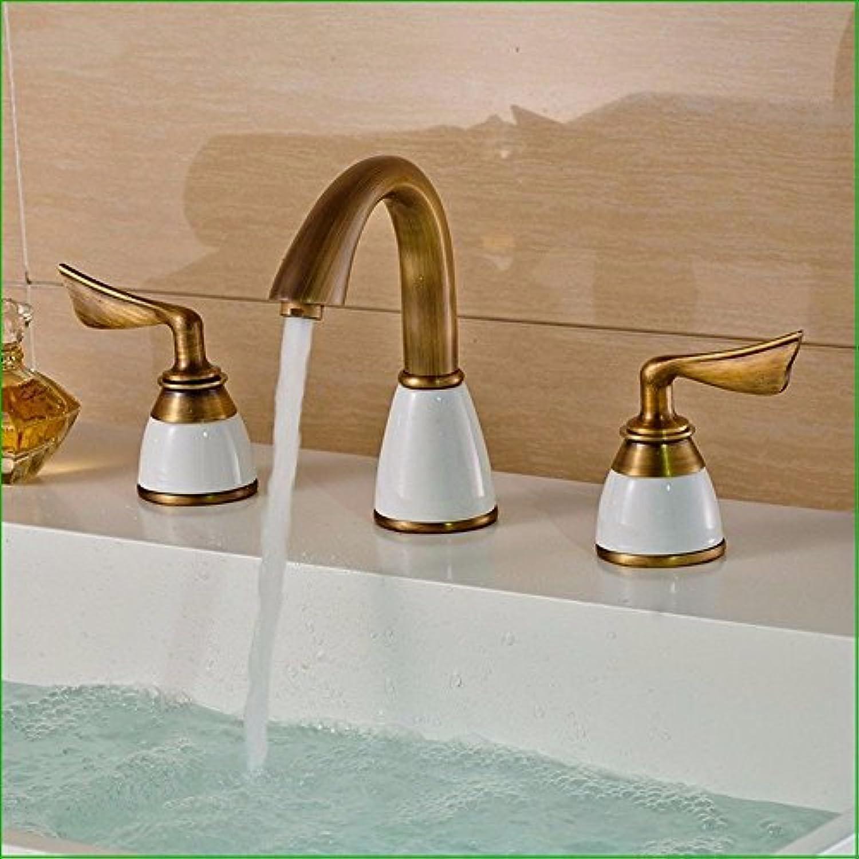 Küche oder Badezimmer Waschbecken Mischbatterie für die Hohe Design antike Waschbecken Wasser S Wasserfall Glas, klopfen Sie den Hahn voll Kupfer Waschbecken Waschbecken Waschbecken Wasser Chrom Tippen)