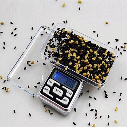 Fasclot 500g x 0.1g Digital Scale Jewelry Gold Herb Balance Weight Gram LCD Home & Garden Kitchen,Dining & Bar for Fourth of July (0.1g Tube)