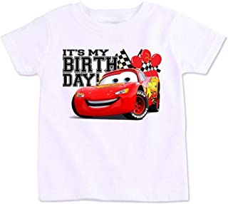 Disney Pixar Cars Lightning Mcqueen With Its My Birthday T-Shirt, 4 Years
