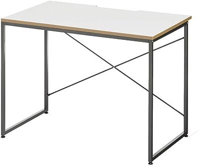 エフワークス(F Works) ワーキングデスク ホワイトグレー 幅100×奥行60×高さ72cm 273464
