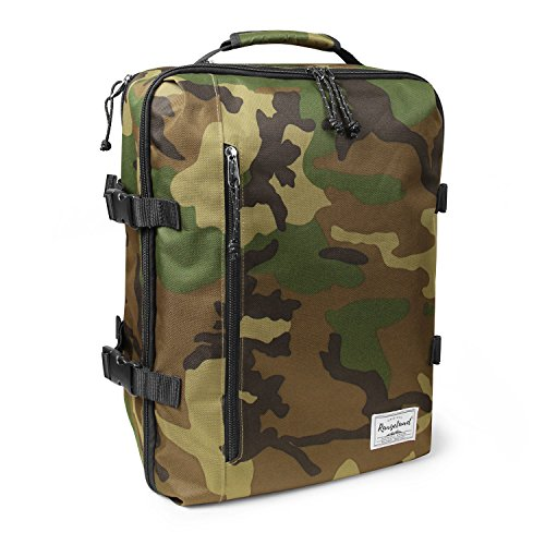 Rangeland Travel Backpack NEW 2021 21L Carry on Daypack Fits 15 inch Laptop Notebook and Travel Accessories Meets IATA Flight Standards Green Camo