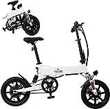 MQJ Ebikes Bicicletas Eléctricas Plegables para Adultos, Aleación de Aluminio Ebikes Bicicletas, 14'36V 250W Batería de Litio Extraíble de Ión de Litio Ebike, 3 Modos de Trabajo,7.8Ah