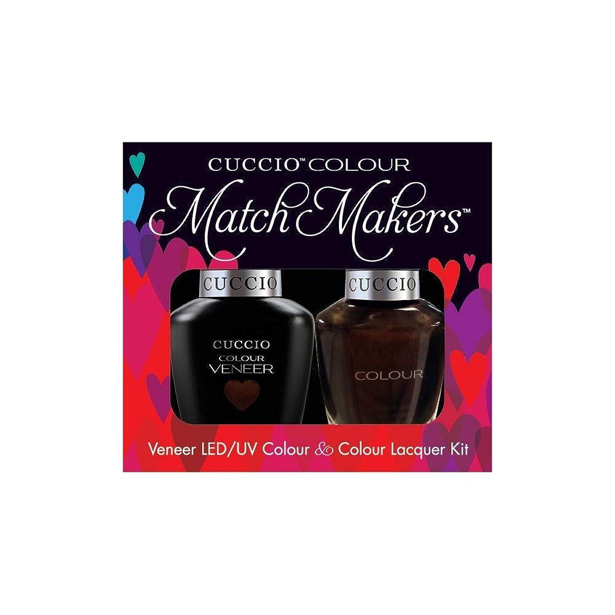 マングル海峡ひも別々にCuccio MatchMakers Veneer & Lacquer - Duke It Out - 0.43oz / 13ml Each