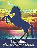 Caballos Libro Colorear Adultos: Libro de Colorear Aliviar el Estrés 50 Diseños de Caballos de una cara Libro de colorear para adultos Regalo para ... los caballos Libro de colorear para adultos