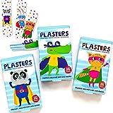 Super Poderes Tiritas Para Niños / Sin Látex / Hipoalergénicos / Lavables / Paquete de 2 x 16 unidades / Modelos...