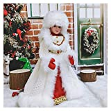 Christmas Doll Santa Claus Dolls Holiday Plush Characters Christmas Children Toys Birthday Party Gifts Table Decoration Christmas Decoration (Color : Fr55 56, Size : 30x14cm Size S)