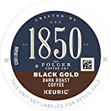 1850 by Folgers Coffee Black Gold Dark Roast Coffee, 60 K Cups for Keurig Coffee Makers