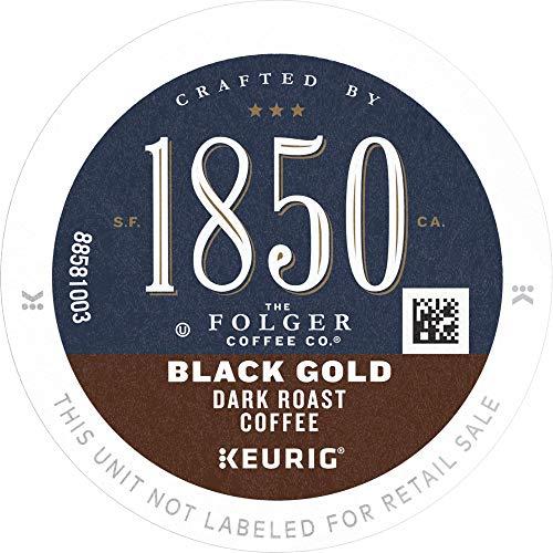 1850 by Folgers Black Gold Dark Roast Coffee, 60 Keurig K-Cup Pods