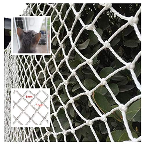 Cat Balcony Nets, Protective Net For Balcony & Window | Extra-Large Tarpaulin Outdoor, Camping, Roof, Photography Safety Net(Multi-size) (Color : 10cm Mesh, Size : 2 * 6M)