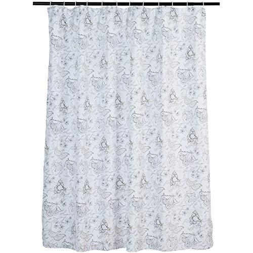 AmazonBasics Grey Floral Shower Curtain - 72 Inch
