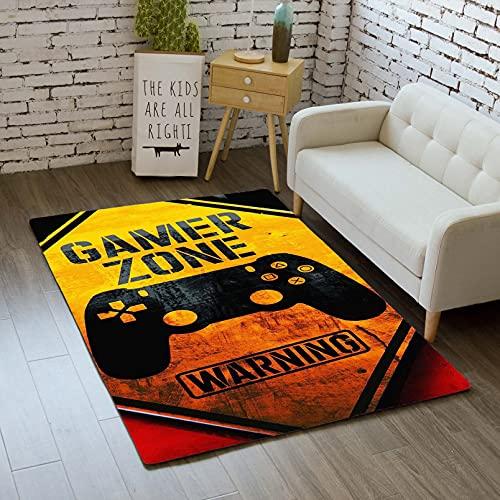 Alfombra Infantil 3D Consola de Juego Gamer Gamepad Game Over Controlador Diseño Antideslizante Alfombra ,para Sala de Estar Cuarto Sofá Cocina Alfombrilla de Juego (Color D,120×160 cm)