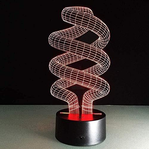 3D Illusions Luz Nocturna Led Luz Nocturna Lámpara Tubo De Luz 7 Colores Touch Sensor Lámpara Cargador Usb Dormitorio Decoración Regalo De Cumpleaños Para Niños