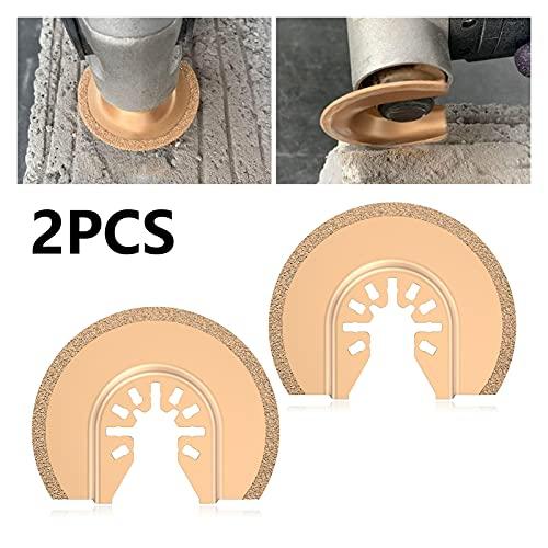 Accesorios para herramientas Hojas de sierra oscilante Establecer disco de corte DIY Kit Renovator Oscilating Multi Herramienta para Fein Multimaster Dewalt para madera y metal (Color : C 2PCS)