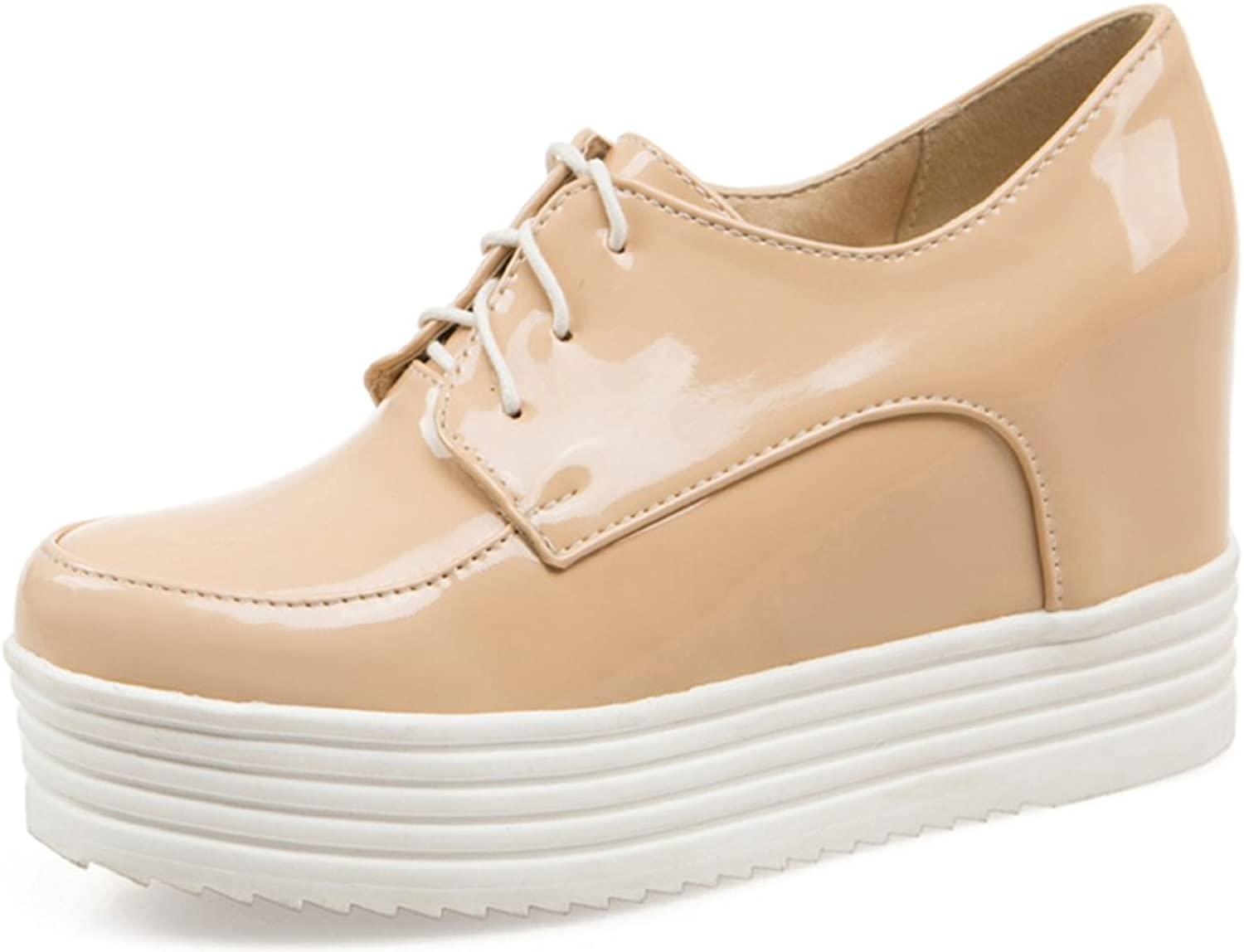 Cuckoo Round Toe Patent PU Leather Classic Oxford shoes