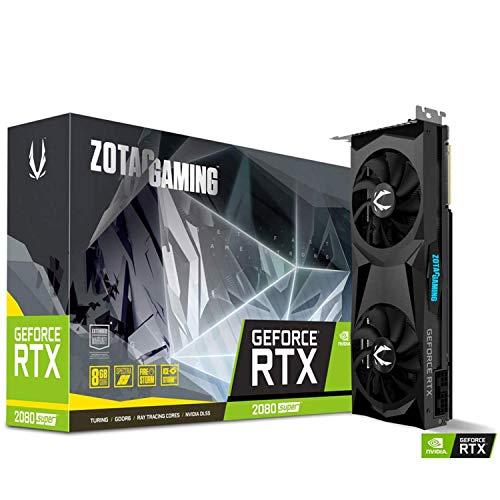 Zotac GAMING GeForce RTX 2080 SUPER Doppia ventola, Nero, ZT-T20820F-10P