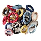 Wetopkim 30 Pcs Hair Ties, Non-Slip and Seamless Hair Bands for Thick Heavy and Curly Hair, Lightweight Highly Elastic and Stretchable