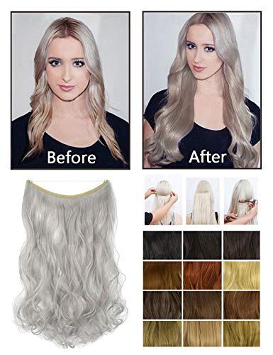 1BJ Extension de cheveux synthétiques longs et bouclés pour femme 45,7 cm