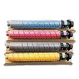 PGODYQ - Cartuccia Toner Compatibile con Ricoh MP C2004exSP C2004SP 2504C 2504SP Stampante Laser fotocopiatrice ad Alta capacità, Fissaggio Trasparente e Stabile