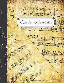 Cuaderno de música  Cuaderno de pentagramas para escribir notación musical - 12 pentagramas por página - Tamaño A4 108 páginas  Spanish Edition