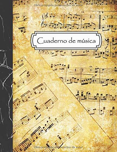 Cuaderno de música: Cuaderno de pentagramas para escribir notación musical - 12 pentagramas por página - Tamaño A4, 108 páginas