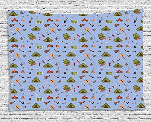 XURANFANG Boy Scout Tapestry Wandtapijt, wandtapijt, wanddecoratie Camping Icons Tent Guitar 60