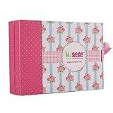 Minene Sorpresa - Caja de regalo, incluye body con aplique, pantalón y gorrito, color rosa