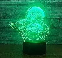 giyiohokスーパーマリオ3D目の錯覚ナイトライトギフトおもちゃの装飾7RGB色ベッドサイドランプタッチ調節可能な明るさの誕生日ギフトの装飾男の子の女の子の子供のための-Ga725-N36-N20
