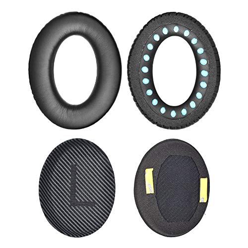 Replacement Ear Pads Cushion Earpads Kit Compatible with Bose Quietcomfort 35 Over the Ear Headphones (QC35-Black)