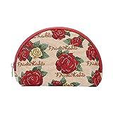 Signare tapiz neceser mujer neceser maquillaje neceser niña organizador bolsos de mujer con diseño de Frida Kahlo (Frida Rose)
