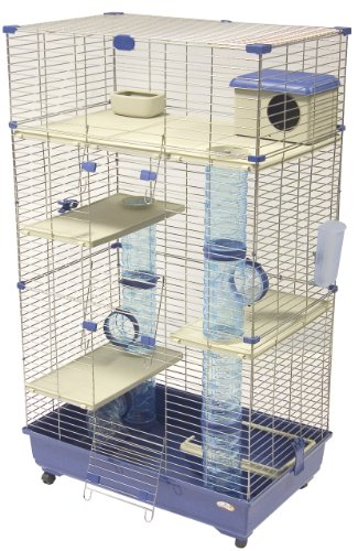 Marchioro Sara 82 C3 Cage for Small Animals with Wheels, 32.25 inches, Blue