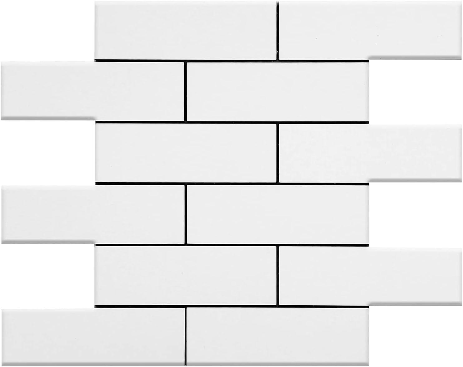 KASARO 10-Pack High quality new Peel and Stick Backsplash Tile Brick Subway New Orleans Mall White