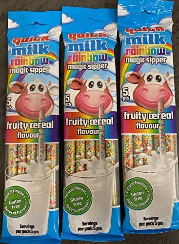Espositore n. 20 Cannucce Aromatizzate Frutta e Cereali Multicolor per Latte 30 gr