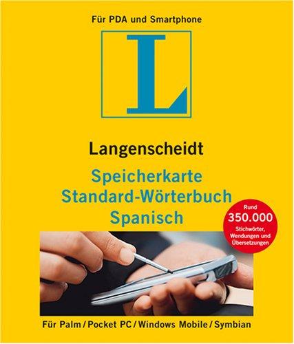 Preisvergleich Produktbild Langenscheidt Speicherkarte Standard-Wörterbuch Spanisch: Rund 350.000 Stichwörter,  Wendungen und Übersetzungen