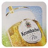 Krombacher Bierdeckel Pils Untersetzer Bier Glas Gläser Bierfilz Pappdeckel Party Bar Theke Tresen...