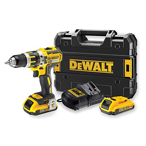 DEWALT DCD795D2QW XR 18V 13mm 60Nm brushless battery hammer drill with 2 x 20Ah LiIon batteries with TSTAK case