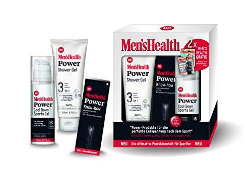 Men´s Health Geschenkset Power 1 x Power Shower Gel 3 in 1 & 1 x Power Cool Down Sports Gel  - vegan & parabenfrei, 1er  Pack (1 x  1 Set)